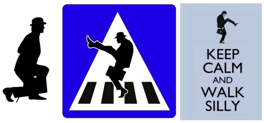 Nieuw pictogram voor Silly Walk oversteek