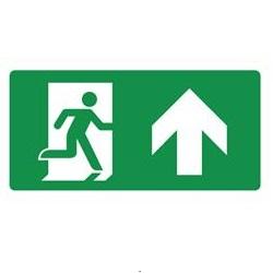 Nooduitgang omhoog rechts