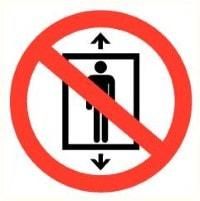 Lift verboden