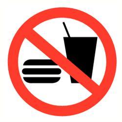 Verbod eten en drinken