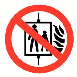 Verbod lift met vlam