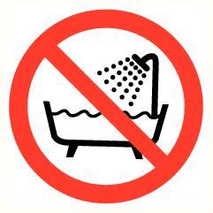 Verboden bad te gebruiken