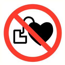Verboden voor pacemakers