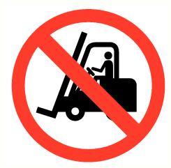 Verboden voor transportmiddelen