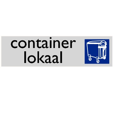 Infoplaatje Container lokaal