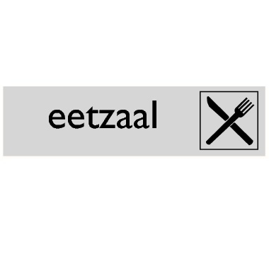 Infoplaatje Eetzaal