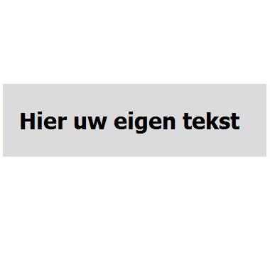 Infoplaatje Eigen tekst