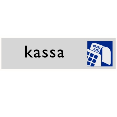 Infoplaatje Kassa
