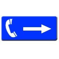 Richting telefoon