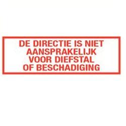 Directie is niet aansprakelijk