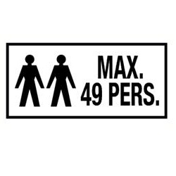 Max 49 personen