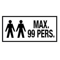 Max 99 personen