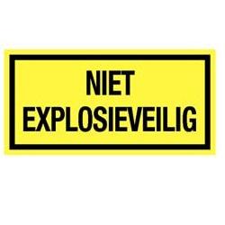 Niet explosieveilig