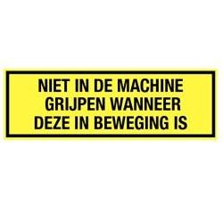 Niet in machine grijpen