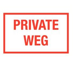 Private weg
