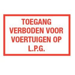 Toegang verboden lpg voertuigen