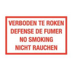 Verboden te roken 4 talen