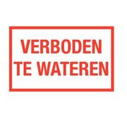 Verboden te wateren