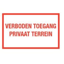 Verboden toegang privaat terrein