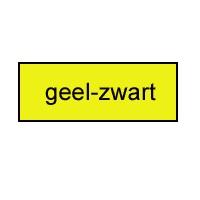 Graveerbord geel - zwart