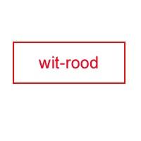 Graveerbord wit - rood